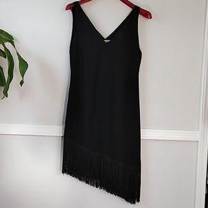 RACHEL RAchel roy black asymmetrical black dress.